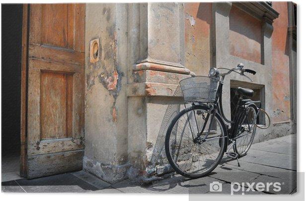 Canvas Italiaanse ouderwetse fiets - Europa