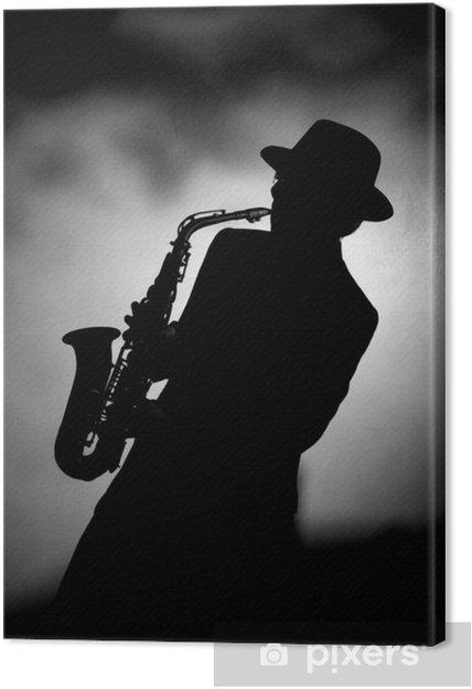 Canvas Jazz sax - jazz