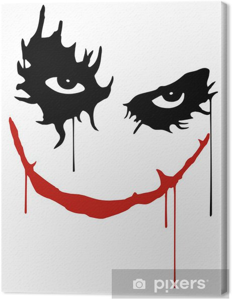 Canvas Joker smile -