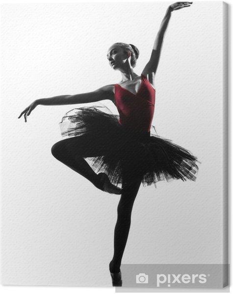Canvas Jonge vrouw ballerina ballet danser - Muursticker