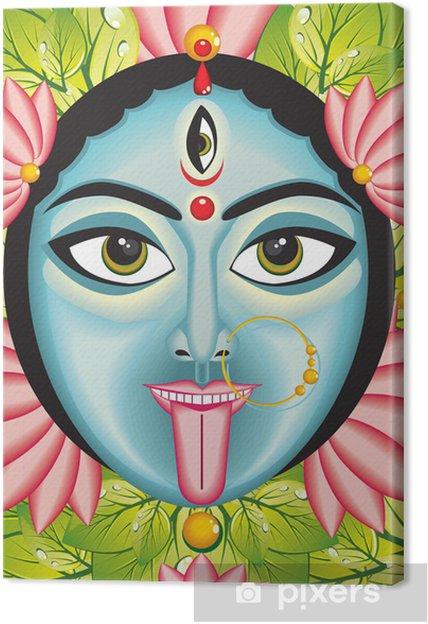 Canvas Kali - Indiase Godin gezicht. - Religie