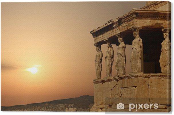 Canvas Kariatiden op de Atheense Akropolis bij zonsondergang, Griekenland - Stijlen