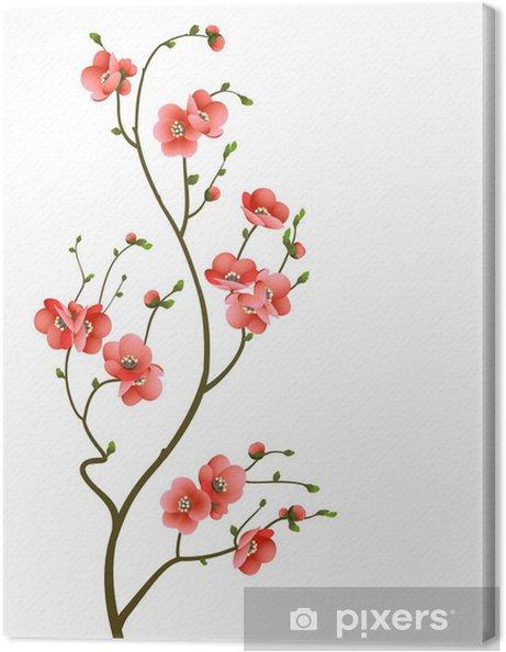 Canvas Kersenbloesem tak abstracte achtergrond -
