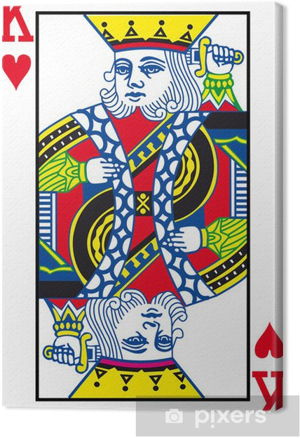 Canvas King of Hearts - Amusement