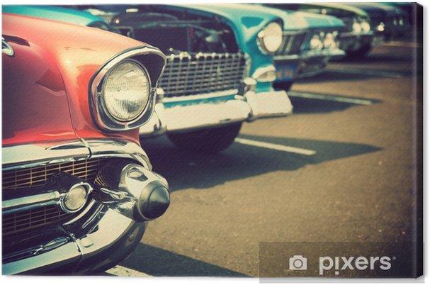 Canvas Klassieke auto's op een rij - Transport