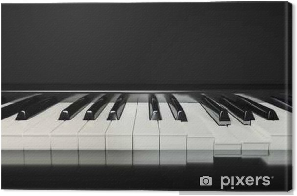Canvas Klassieke piano toetsen achtergrond - Hobby's en Vrije tijd
