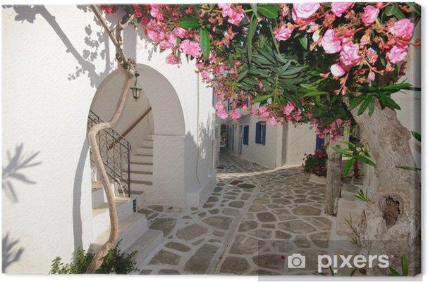 Canvas Kleine backstreet op Amorgos eiland, Griekenland - Thema's