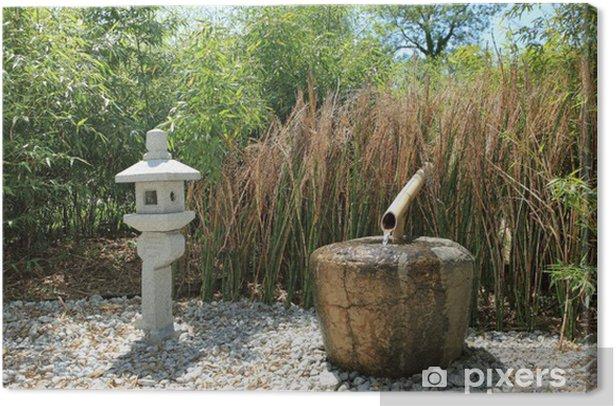 Verwonderlijk Canvas Kleine zen fontein water tuin • Pixers® - We leven om te NA-93