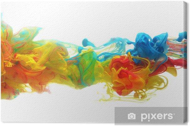 Canvas Kleurrijke inkt in water - Muursticker