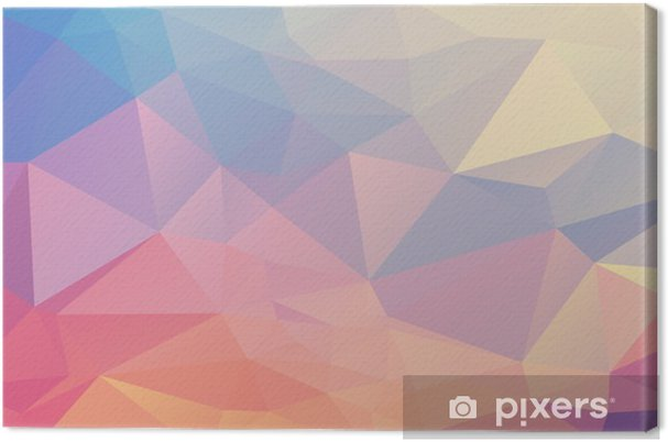 Canvas Kleurrijke veelhoek - Grafische Bronnen