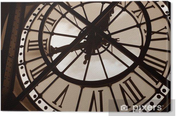 Canvas Klok bij het Musee d'Orsay. Parijs, Frankrijk - Klokken