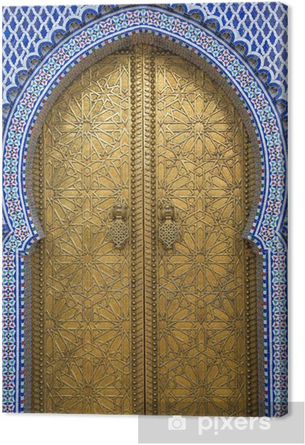 Canvas Koninklijk Paleis in Fes, Marokko - Thema's