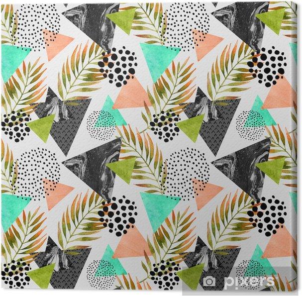 Canvas Kort zomer geometrische naadloos patroon - Grafische Bronnen