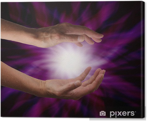 Canvas Kosmische Energie - Gezondheid en Geneeskunde