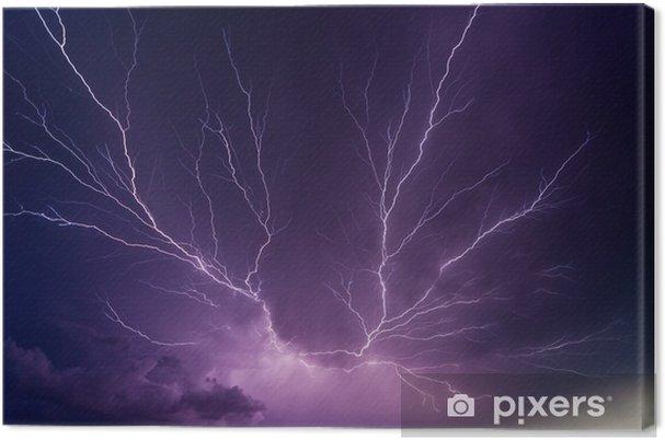 Canvas Krachtige bliksemschichten - Natuurrampen