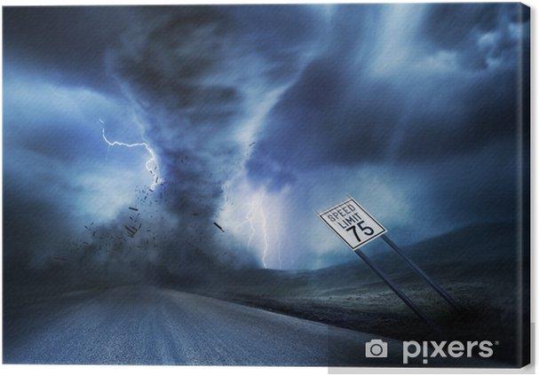 Canvas Krachtige Storm en Tornado - Natuurrampen