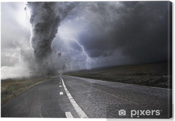 Canvas Krachtige Tornado -