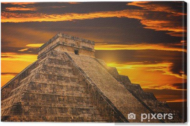 Canvas Kukulkan Piramide in Chichen Itza Site - Monumenten