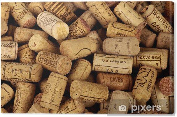 Canvas Kurken van wijnflessen - iStaging