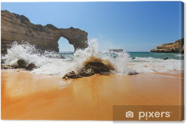 Canvas Kust van Portugal - Vakantie