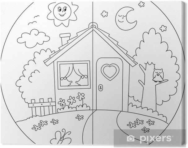 Kleurplaat Huis Met Tuin Archidev
