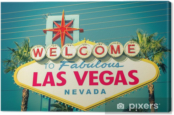 Canvas Las Vegas welkom teken - Las Vegas