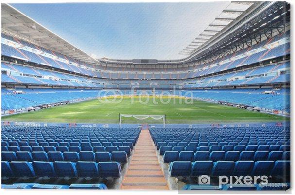 Canvas Lege outdoor voetbalstadion met blauwe zetels - iStaging