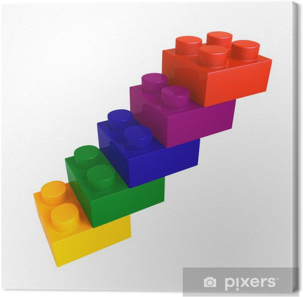 Canvas Lego kleurblok trap - Spellen