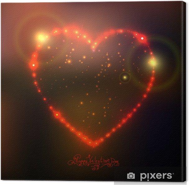 Genoeg Canvas Liefde hart achtergrond van mooie heldere sterren • Pixers @XX56