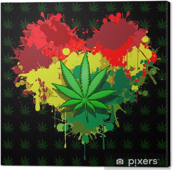 Canvas Liefde marihuana - Planten