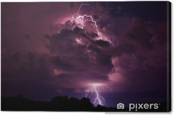 Canvas Lightning Strike - Natuurrampen