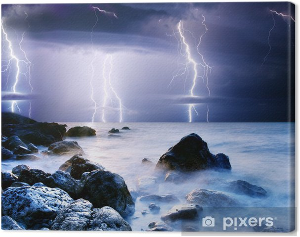 Canvas Lightning -