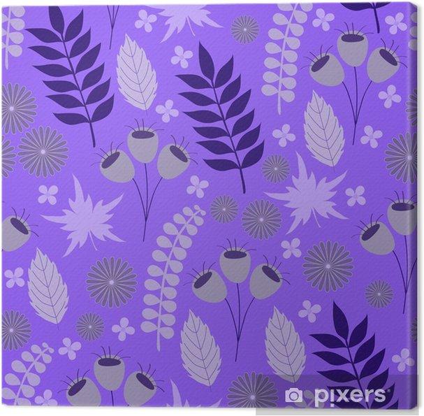 Canvas Lila bloemmotief - Grafische Bronnen