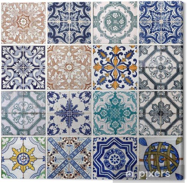 Canvas Lissabon tegels - Borden