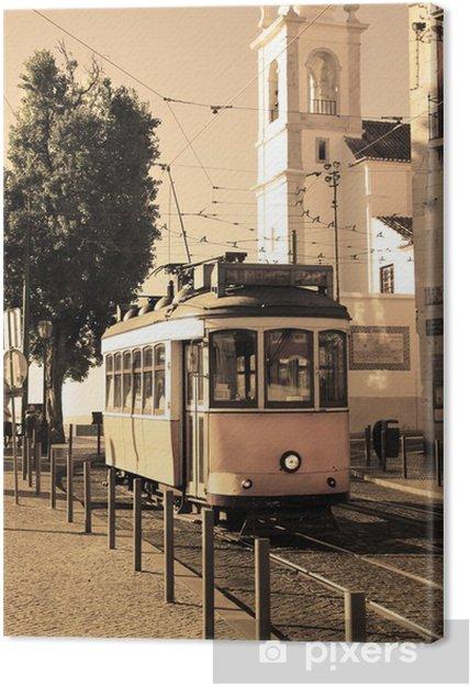 Canvas Lissabon tram -