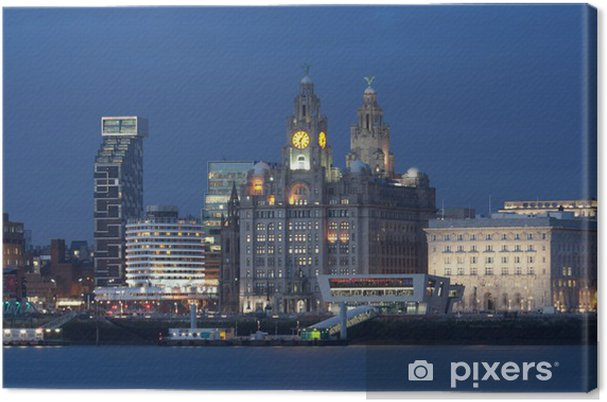 Canvas Liverpool City View - Vakantie