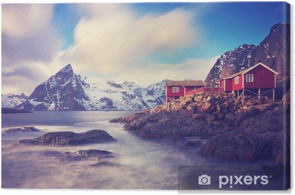 Canvas Lofoten im winter - Landschappen