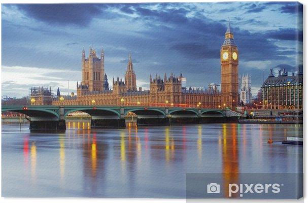 Canvas Londen - Big Ben en huizen van het parlement, UK -
