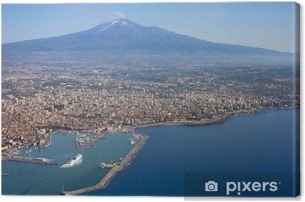 Canvas Lucht foto van Catania stad in Sicilië - Europa
