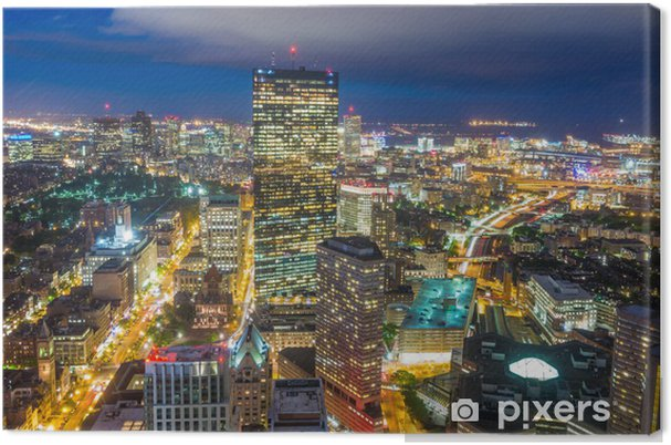 Canvas Luchtfoto van Boston in Massachusetts - Amerika