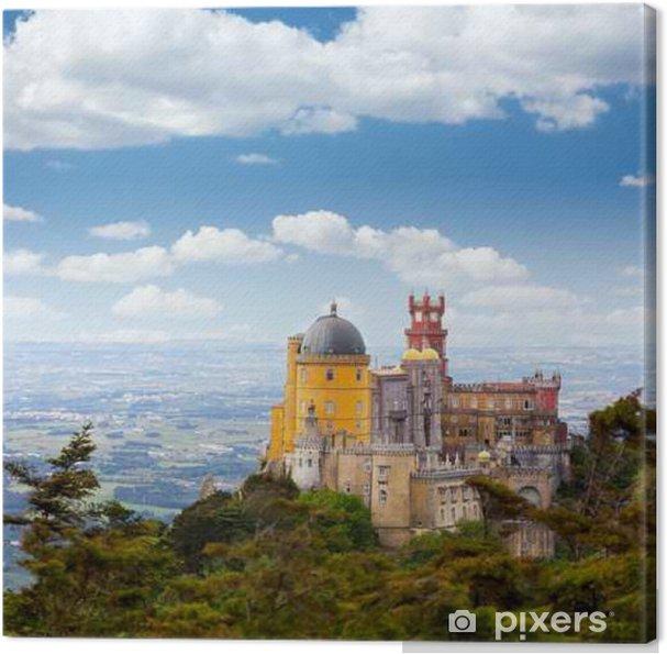 Canvas Luchtfoto van het Palácio da Pena / Sintra, Lisboa / Portugal - Europese steden