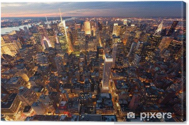 Canvas Luchtfoto van Manhattan -