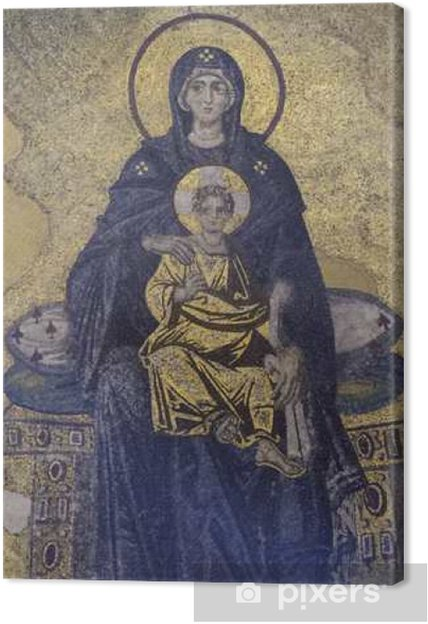 Canvas Maagd Maria en Jezus - Religie en Cultuur