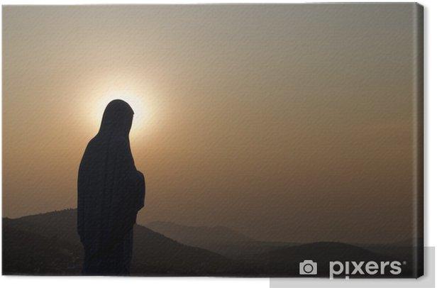 Canvas Madonna van Medjugorje - Openbare Gebouwen