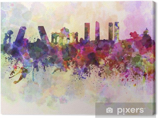 Canvas Madrid skyline in aquarel achtergrond - Thema's
