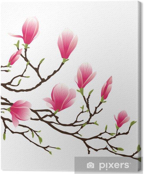 Canvas Magnolia bloesem -