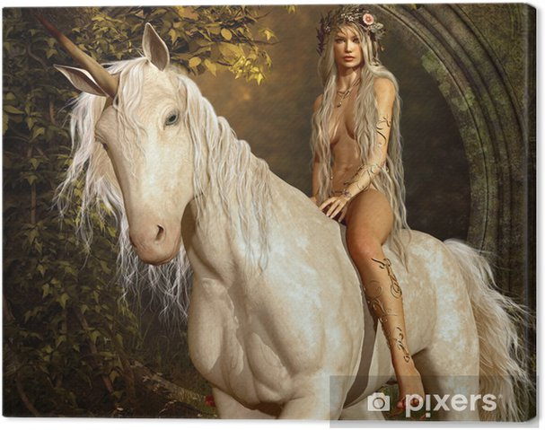 Canvas Maiden en Eenhoorn - Thema's