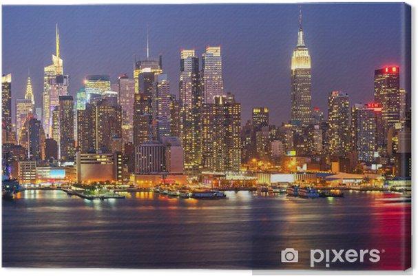 Canvas Manhattan bij nacht -