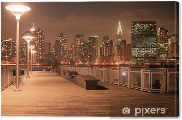 Canvas Manhattan skyline in de nacht - Thema's
