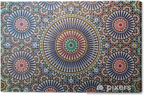 Canvas Marokkaans tegelwerk - Marokko